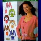 Simplicity Pattern # 4779 UNCUT Misses Knit Twin Set Variations Size 14 16 18 20 22