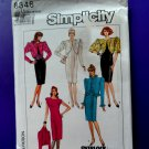 Simplicity Pattern # 8346 UNCUT Evening Misses Dress Lined Jacket Size 16 18 20