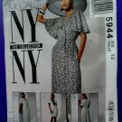 McCalls Pattern # 5944 UNCUT Misses Dress NY Collection Size 12