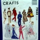 McCalls Pattern # 7932 UNCUT Barbie Fashion Doll Wardrobe Costume