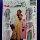 McCalls Pattern # 2499 UNCUT Children and Girls Robe Nightgown Top Pants ~ Size Medium Large
