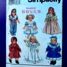 "Simplicity Pattern # 8211 18"" Doll Dress Wardrobe American Girl"