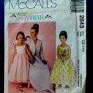 McCalls Pattern # 2643 UNCUT Girls Special Occasion Dress Jacket Size 3 4 5