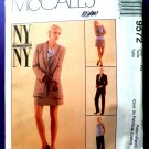 McCalls Pattern # 9572 UNCUT Misses Wardrobe Lined Jacket Skirt Top Pants Size 16