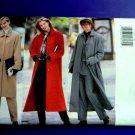 Butterick Pattern # 5737 UNCUT Misses Long Winter Coat Size 14 16 18