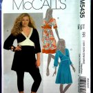 McCalls Pattern # 5435 UNCUT Misses Empire Tunic Dress Size 18 20 22 24