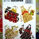 Butterick Pattern # 5765 UNCUT Misses Halter Apron Potholders Size 8 10 12 14 16 18