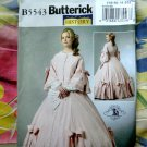 Butterick Pattern # 5543 UNCUT Misses Civil War Dress Size 14 16 18 20