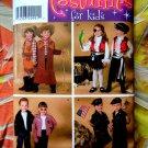 Simplicity Pattern # 3997 UNCUT Kids Costume Cowboy Pirate Biker Soldier Size 3 4 5 6 7 8