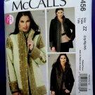 McCalls Pattern # 6456 UNCUT Misses Reversible Lined Jacket Size Large XL XXL