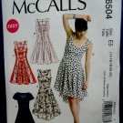 McCalls Pattern # 6504 UNCUT Misses Summer Dress Size 14 16 18 20 22
