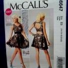 McCalls Pattern # 6647 UNCUT Misses Dress Size 14 16 18 20 22