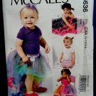 McCalls Pattern # 6636 UNCUT Baby Tutu and Skirts Shorts Size 1/2 , 1, 2, 3 and 4