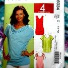 McCalls Pattern # 6034 UNCUT Top Blouse STRETCH KNITS Size Large XL