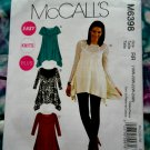 McCalls Pattern # 6398 UNCUT Misses Tunic STRETCH KNITS Size 18 20 22 24