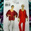 Vogue Pattern # 8698 UNCUT Misses Tunic Pants STRETCH KNITS Size XS Small Medium