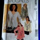 McCalls Pattern # 5281 UNCUT Misses Romantic Ruffled Blouse Size 10 12 14 16