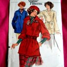 Very Easy Vogue Pattern # 9276 UNCUT Misses Top and Sash Size Large
