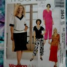 McCalls Pattern # 3943 UNCUT Misses Top Pants Skirt STRETCH KNITS Size 18 20 22 24