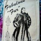 Fabulous Faux Fur Coat UNCUT Pattern Size 8 10 12 14 16