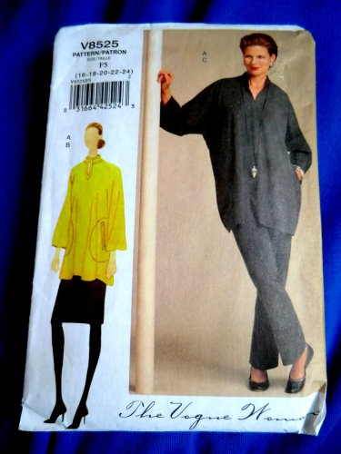 Vogue Pattern # 8525 UNCUT Misses Tunic Skirt Pants STRETCH KNITS ONLY Size 16 18 20 22