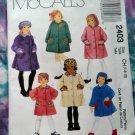 McCalls Pattern # 2403 UNCUT Girls Coat Size 7 8 10