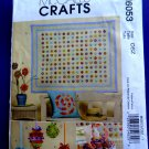 McCalls Pattern # 6053 UNCUT Craft Pattern Yo Yo Quilt Bunny