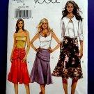 Vogue Pattern # 8200 UNCUT Misses Skirt Variations Size 12 14 16