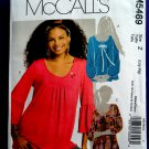 McCalls Pattern # 5469 UNCUT Misses Tunics Tops Size Large XL