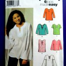 Simplicity Pattern # 5684 UNCUT Misses Top /Tunic Size 8 10 12 14