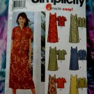 Simplicity Pattern # 5959 UNCUT Misses Pullover Dress Two Lengths & Jacket  Size 16 18 20 22