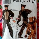 Simplicity Pattern # 9810 UNCUT Childs Costume Bear Bunny Cat Size 2 4 6 8 10 12