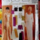 McCall's Pattern # 3436 UNCUT Misses Evening Elegance Formal Top Skirt  Size 12 14 16