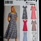 Simplicity Pattern # 5189 UNCUT Misses Pull Over Dress Variations Size 8 10 12 14