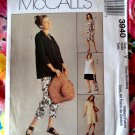 McCalls Pattern #3940 Misses Maternity Top Pants Size XS Small Medium