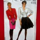 New Look Pattern # 6101 UNCUT Misses Top/Jacket Skirt Size 8 10 12 14 16 18