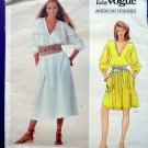 Vogue Pattern # 2891 UNCUT Misses Pull-Over A-Line Dress Calvin Klein Size SMALL
