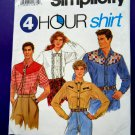 Simplicity Pattern # 7936 UNCUT Mens Womans Western Cowboy Shirt Size Large XL (Extra Large)