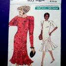 Vogue Pattern # 7033 UNCUT Misses Dress Size 8 10 12 Flounce