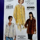 Vogue Easy Pattern # 7725 UNCUT Misses Blouse/Top Size 14 16 18 Koko Beall Designer