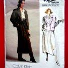 Vogue Pattern # 1627 UNCUT Misses Jacket Skirt Size 14 Calvin Klein American Designer Series