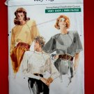 Vogue Easy Pattern # 7044 UNCUT Misses Blouse Size 8 10 12