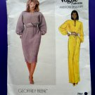 Vogue Pattern # 2907 UNCUT Misses Dress Belt Size 10 Geoffrey Beene Designer