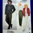Vogue Pattern # 2853 UNCUT Misses Jacket Top Pants Size 12 ONLY a Paris Original by Designer Montana