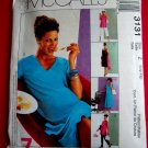 McCalls Pattern # 3131 UNCUT Misses Maternity Dress Top Pants STRETCH KNITS ONLY Size Large XL