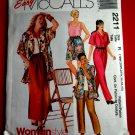 McCalls Pattern # 2211 UNCUT Misses Cruise Wear Top Jacket Pants Size 18 20 22