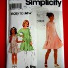 Simplicity Pattern # 7953 UNCUT Girls Dress STRETCH KNITS ONLY Size 7 8 10