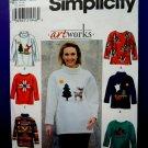 Simplicity Pattern # 8251 Misses Fleece Top Appliqués Size Large XL