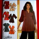Simplicity Pattern # 3697 UNCUT Misses Womans Top STRETCH KNITS ONLY Size 26 28 30 32