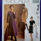 McCalls Pattern # 3718 UNCUT Misses Dress Sleeve Length Variations Size 12 14 16 18